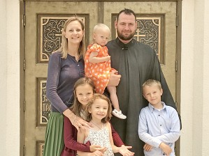 Deacon Alexandre with his family